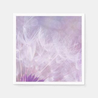 Purple Dandelion Fluff Paper Napkins