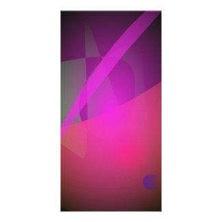 Purple Dark Cute Customized Photo Card