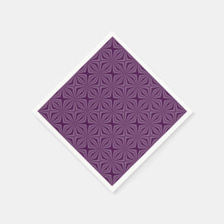 Purple Darkest Squiggly Squares Disposable Serviette