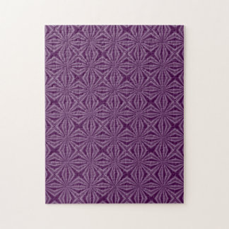 Purple Darkest Squiggly Squares Jigsaw Puzzle