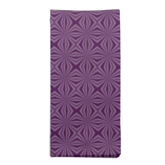Purple Darkest Squiggly Squares Napkin