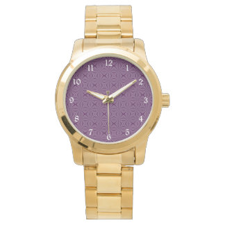 Purple Darkest Squiggly Squares Watch