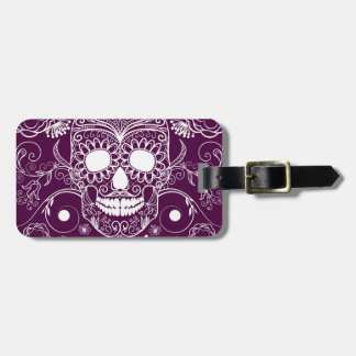 Purple Day of the Dead Luggage Tag