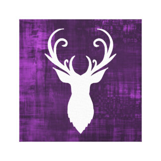 Purple Deer Antlers Canvas Print