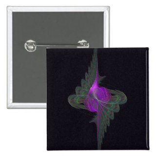 Purple Dervish Abstract Art 15 Cm Square Badge