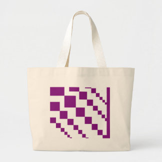 Purple Descending Diamonds Large Tote Bag