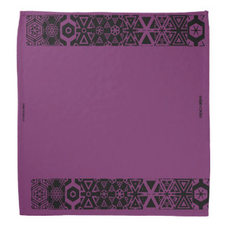 Purple design bandana
