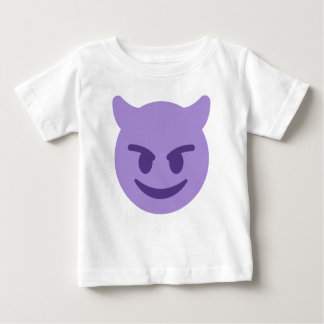 Purple Devil Emoji Baby T-Shirt