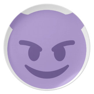 Purple Devil Emoji Plate