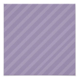 Purple Diagonal Stripes Scrapbook Paper Poster