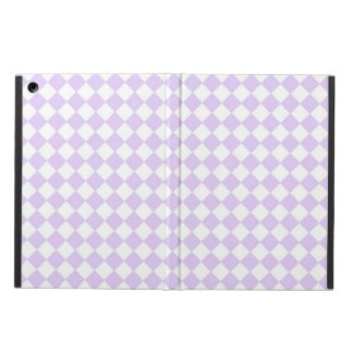 Purple Diamond Checkered pattern Case For iPad Air