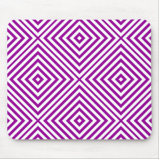 Purple Diamond Chevron Mouse Pad
