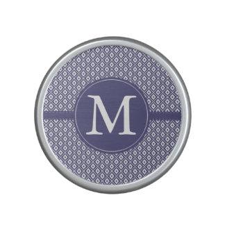 Purple Diamond Pattern Monogram Speaker