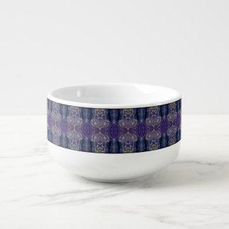 purple diamond soup mug