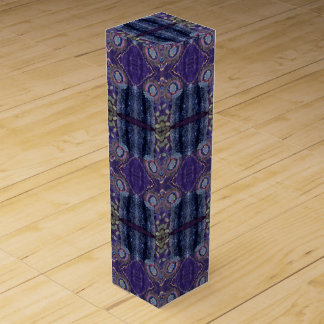 purple diamond wine box