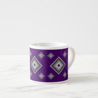 Purple Diamonds Espresso Mug by Janz