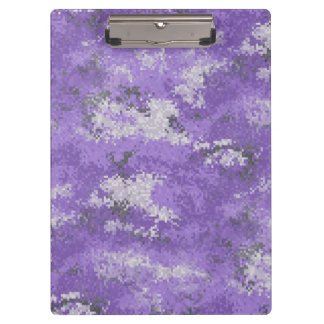 Purple Digi Camo Clipboard