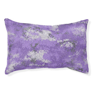 Purple Digi Camo Pet Bed