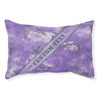 Purple Digi Camo w/ Custom Text Pet Bed
