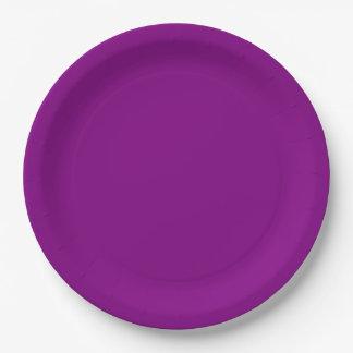 Purple Dinner Paper Plate