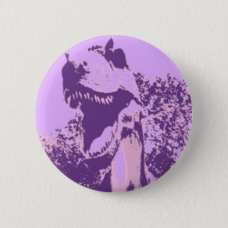 Purple Dinosaur T-Rex 6 Cm Round Badge