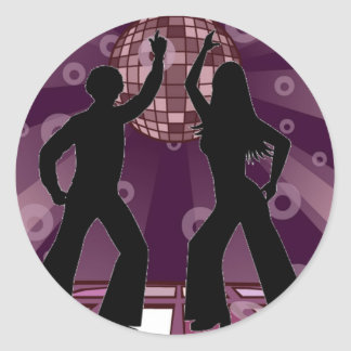 Purple Disco 2 Round Sticker