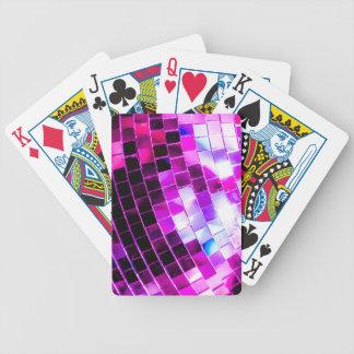 Purple Disco Ball Poker Deck