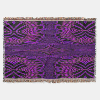 Purple Distraction 3 SDL Throw Blanket