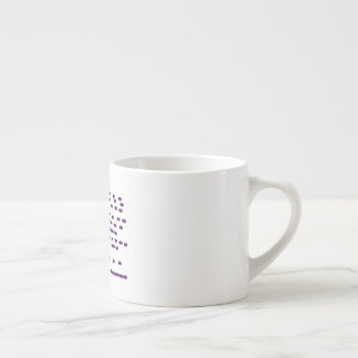 Purple DNA espresso cup horizontal