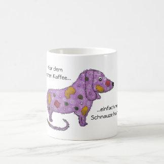 Purple dog coffee mug