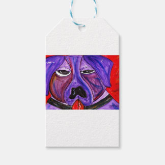 Purple Dog Gift Tags