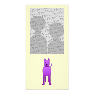 Purple Dog Picture Card