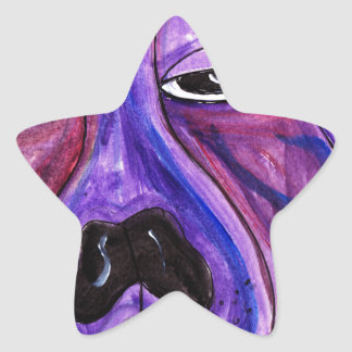 Purple Dog Star Sticker