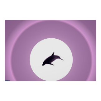 Purple Dolphin Poster