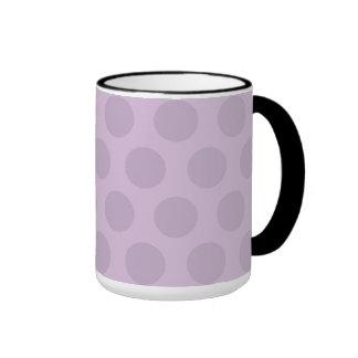 Purple Dots Ringer Mug