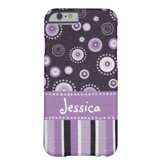 Purple Dots & Stripes Barely There iPhone 6 Case