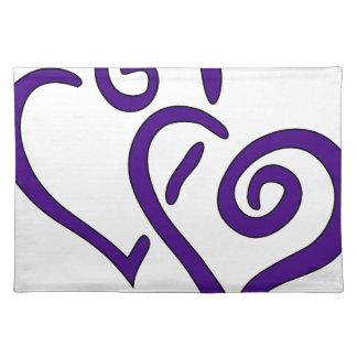 Purple Double Heart Placemat