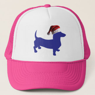 Purple-Doxie---And-Santa-Hat Trucker Hat