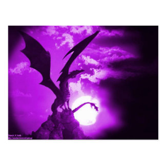 Purple dragon 2 postcard