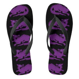 Purple Dragon Black Thongs