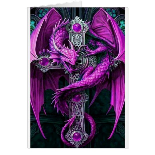 Purple Dragon Card