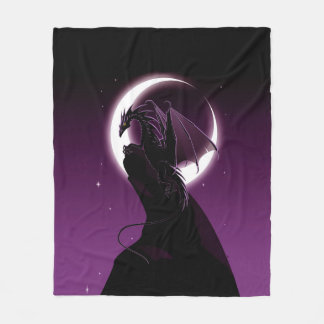 Purple Dragon Fleece Blanket