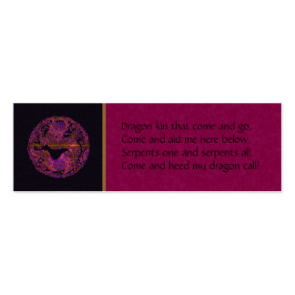Purple Dragon Spell Card Pack Of Skinny Business Cards