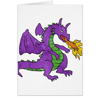 purple dragon throwing flames card