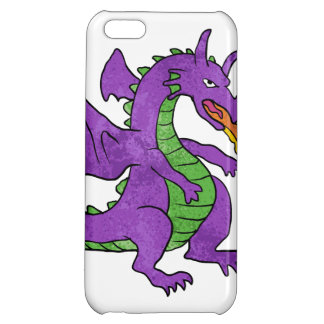 purple dragon throwing flames iPhone 5C case