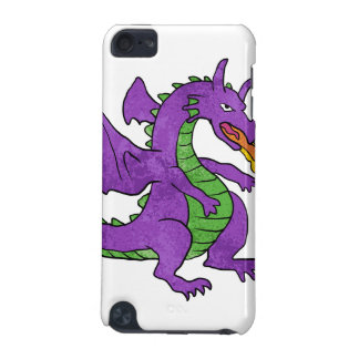 purple dragon throwing flames iPod touch (5th generation) covers
