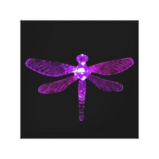 Purple Dragonfly Canvas Print