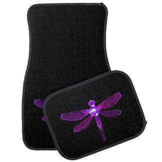 Purple Dragonfly Car Mats