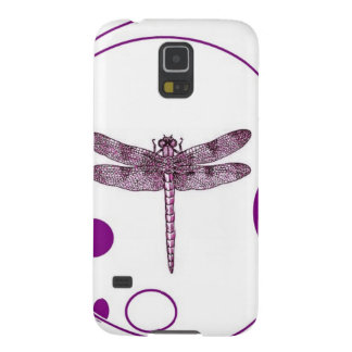 Purple Dragonfly Contemporary Design by Sharles Cases For Galaxy S5