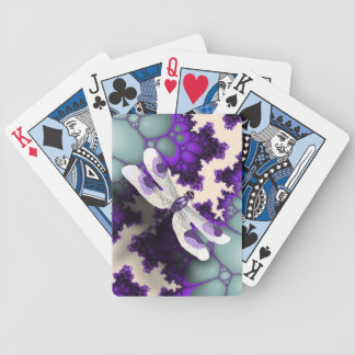 Purple Dragonfly Playing Cards